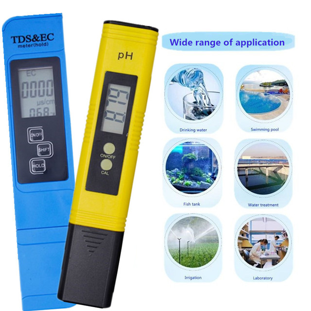 Digital PH /TDS/ EC Meter Tester  Thermometer Pen Water Purity  PPM Filter Hydroponic for Aquarium Pool Water Monitor 40% off 3