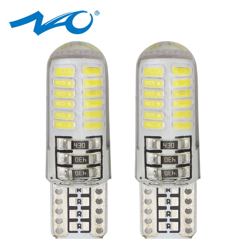 NAO <font><b>100x</b></font> <font><b>T10</b></font> led W5W Bulb Car Interior Light 5W5 1.5W lamp Auto 12V Side Clearance Reading Reverse bulb White Crystal Blue Red image