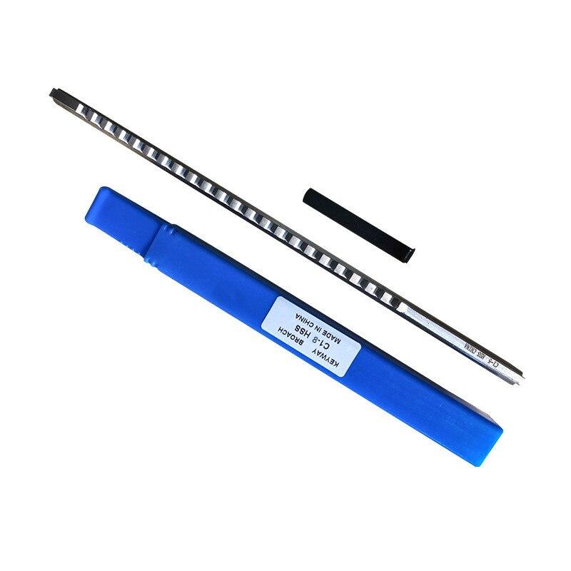 8mm Keyway Broach C Push Type Metric Size Broaching Cutter/&Shim CNC Metalworking