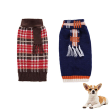 Plaid Dog Sweaters Stripe Dogs Puppy Sweater For Small Large Dogs Chihuahua Autumn Winter Knitwear Hoodie XXS XS S M L XL XXL xinyi xs s m l xl
