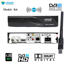 DVB T2 TV Tuner DVB-T2 Receiver Full-HD 1080P Digital Smart TV Box Support AC3 MPEG4 H.265 HEVC with wifi for Czech Republic RU