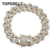 TOPGRILLZ אישיות היפ הופ/פאנק גברים של צמידי אייס מתוך מעוקב זירקון מיאמי לרסן קובני קישור שרשרת צמיד תכשיטים מתנות
