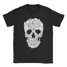 Cat Skull Horror T Shirt Man 4XL 5XL 6XL Tops Popular T-Shirt Round Neck Cotton Tee