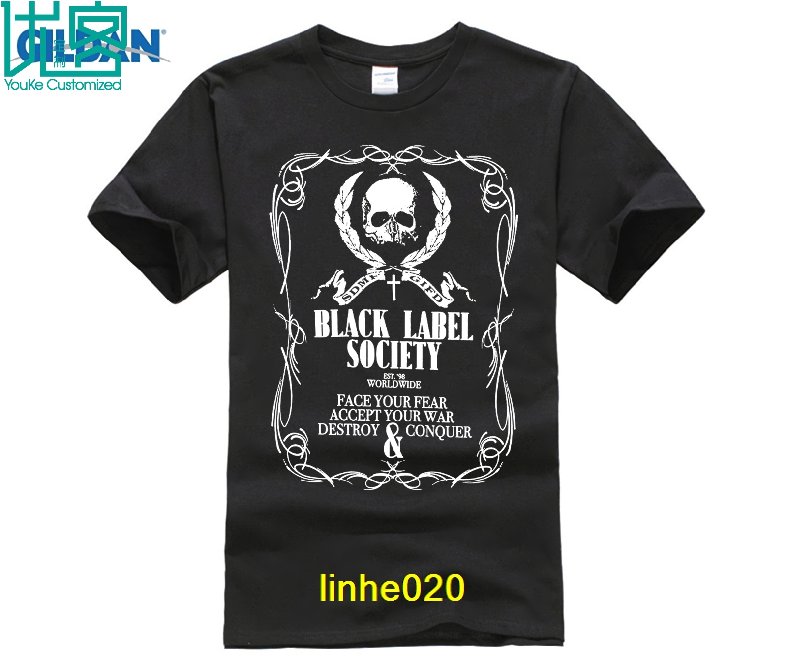 BLS BLACK LABEL SOCIETY Shot to Hell Metal Band Men/'s Black T-Shirt Size S-3XL