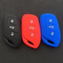 3 кнопки силиконовый для ключа автомобиля чехол для MG HS ZS EV smart key