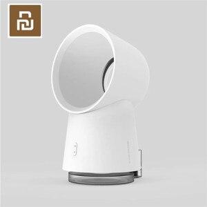 Image 3 - Nieuwste Originele Youpin Hl 3 In 1 Mini Cooling Fan Bladeless Desktop Fan Mist Luchtbevochtiger Met Led Licht Wit