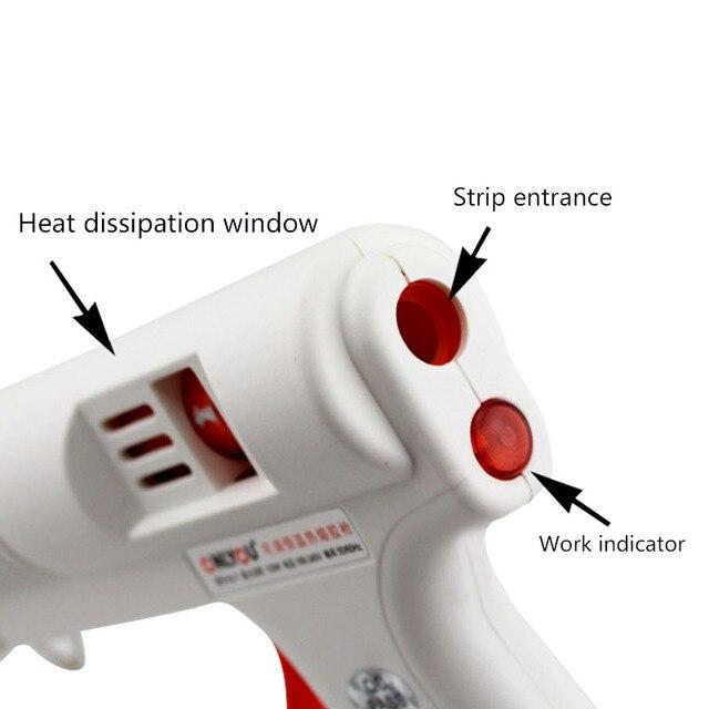 GTBL colle chaude-pistolet température réglable 120W pleine taille adhésif thermofusible pleine taille colle-pistolet température et débit réglables con