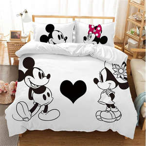 Disney Duvet-Cover-Set Mouse-Bedding-Sets Bedroom Adult Girl Full-Queen-King Mickey-Minnie