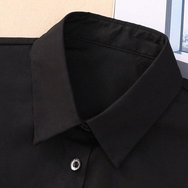 Women Cotton Lace Fake Collar Blouse Vintage Detachable Shirt Collar False Collar Lapel Blouse Top Women Clothes Accessorie 3