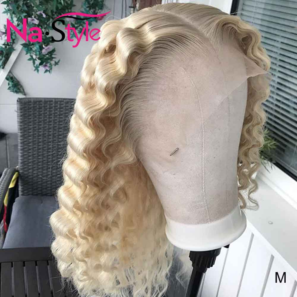 613 Lace Front Wig 360 Lace Frontal Wig Pre Plucked With Baby Hair Loose 613 Deep Wave Frontal Wig 130 Can Dye Peruvian Wig Remy