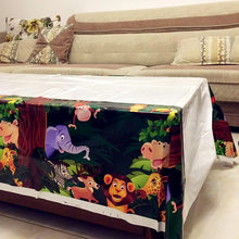 1pcs 132x220CM Disposable Tablecloths with Jungle Animal Party Monkey Lion elephant Safari Birthday Party Decoration Supplies(China)