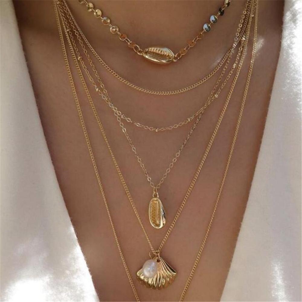 Vintage Gold Chain Statement Necklace