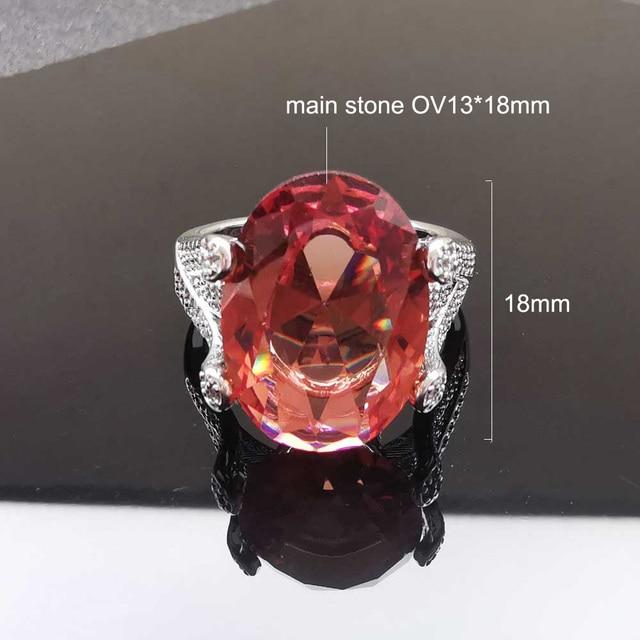 Фото женские кольца из стерлингового серебра 925 пробы ffgems с большим цена
