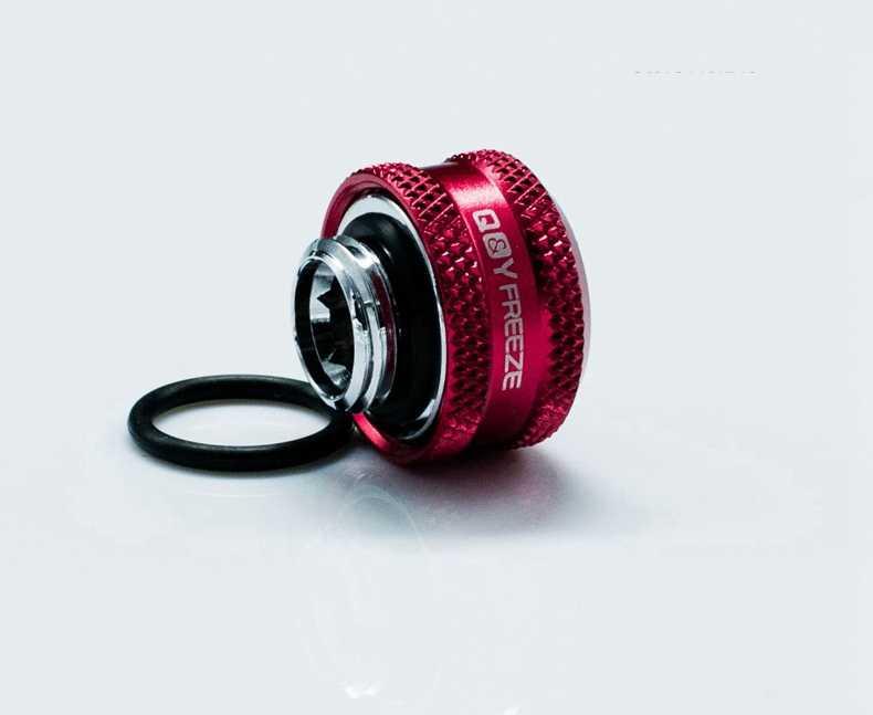 FREEZEMOD OD16mm ハードチューブ継手水冷継手 G1/4 ''外部スレッド六角レンチ穴。 YGKN-C16MM