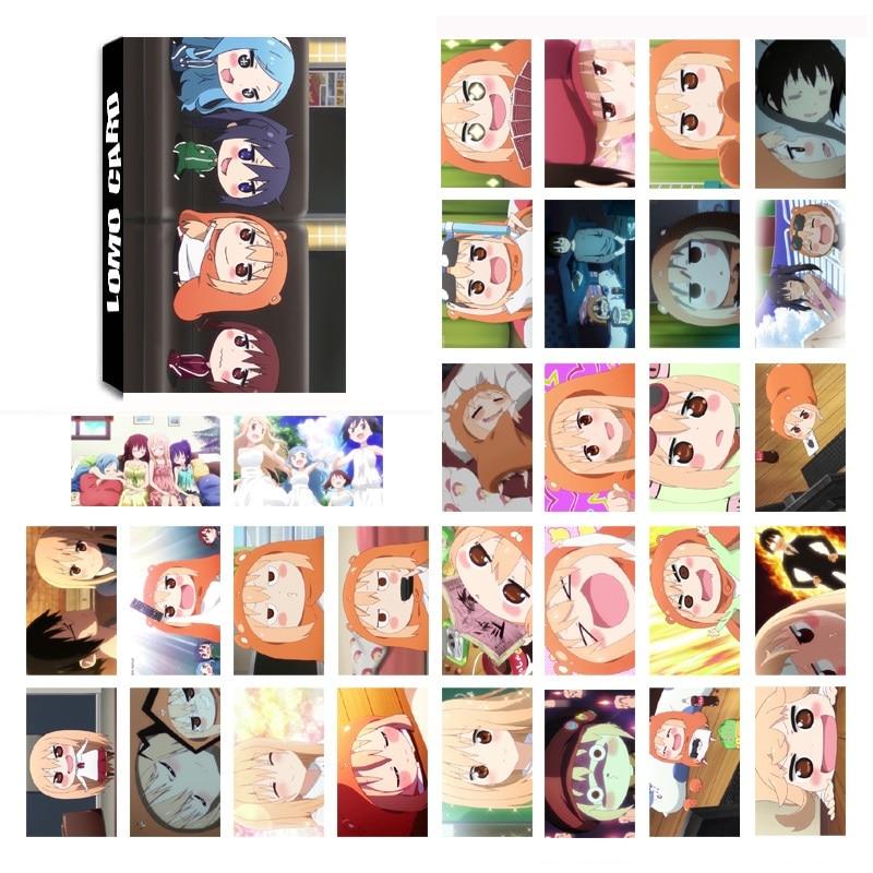 30 Sheets/Set Anime Himouto Umaru-chan LOMO Card Mini Postcard Greeting Card Kawaii Stationery Gift