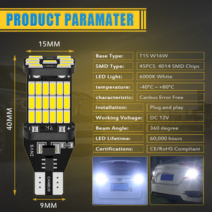 2 шт. T15 T16 W16W Светодиодный лампочки Canbus Error Free светодиодный резервный Фары заднего хода 921 912 W16W светодиодный лампы автомобиля фонарь заднего хода, белого, красного цвета|Сигнальная лампа|   | АлиЭкспресс