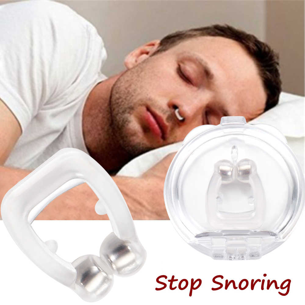 1PC Silicone Nose Clip Magnetic Anti Snore Stopper Snoring Silent Sleep Aid Device Guard Night Anti Snoring Device Health Care