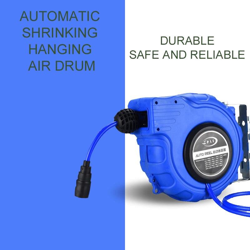 Automatic retractable reel pipe pneumatic tools auto beauty shop air gun tracheal air tube air duct winder