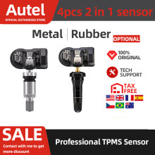 4pcs Autel TPMS Mx-Sensor 315MHz 433MHz Sensor Tire Repair Tools Car Accessories Clone-able Programmable Sensors