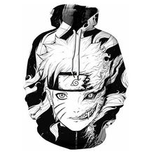 New Mens Naruto Hoodie Fashion Trends 3D Print Casual Sports