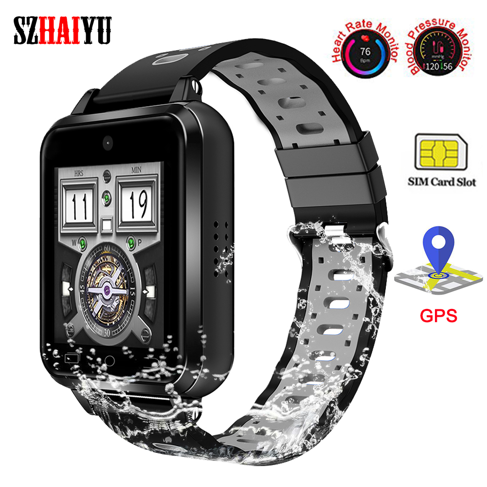 Bluetooth Smart <font><b>Watch</b></font> Fitness Tracker Heart Rate Support <font><b>4G</b></font> SIM Card GPS WIFI Camera Waterproof Smart Bracelet Android image