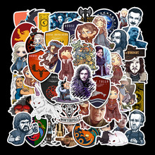50 Pcs/Lot Custom Stickers Papelaria  TV Series Game of Thrones Pull Rod Luggage Car Stationery Sticker Waterproof TZ097D