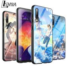 Black cover weathering with you for samsung galaxy a90 a80 a70s