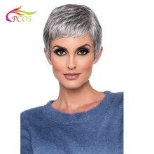 Короткие синтетические волосы коричневого или серебряного цвета, парики для сексуальных черных или белых женщин, доступны два цвета