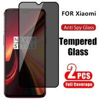Protector de pantalla antiespía para Xiaomi Redmi Note 10, Note 9 Pro Max, 9s, 9t, 8, 7, vidrio de privacidad, Poco X3 Pro, M3, F3, F2, 2 unidades