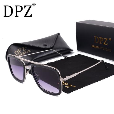 2019 DPZ Avengers Tony Stark Flight 006 Style Sunglasses Men Square Aviation Brand Design Sun Glasses Oculos De Sol UV400 Islamabad