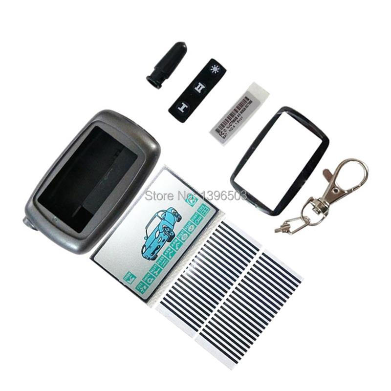 A9 Case Keychain Body Cover + A9 Lcd Display Flexible Cable Zebra Stripes For Two Way Car Alarm Starline A9 2-WAY Remote Control