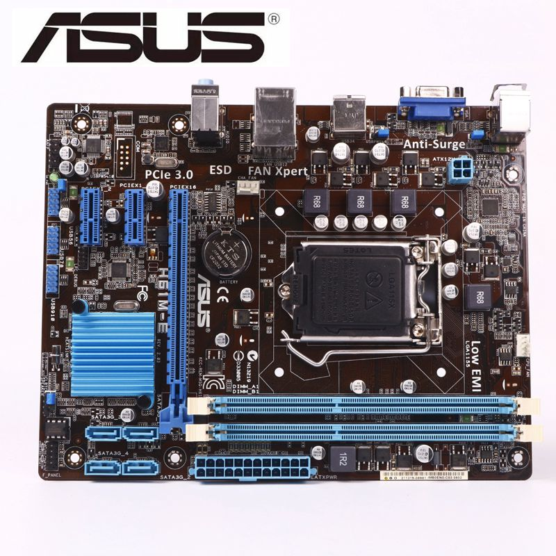 ASUS H61M-E  Motherboard DDR3 LGA 1155 USB2.0 For I3 I5 I7 CPU 16GB H61 USED Desktop Motherboard Mainboard On Sales