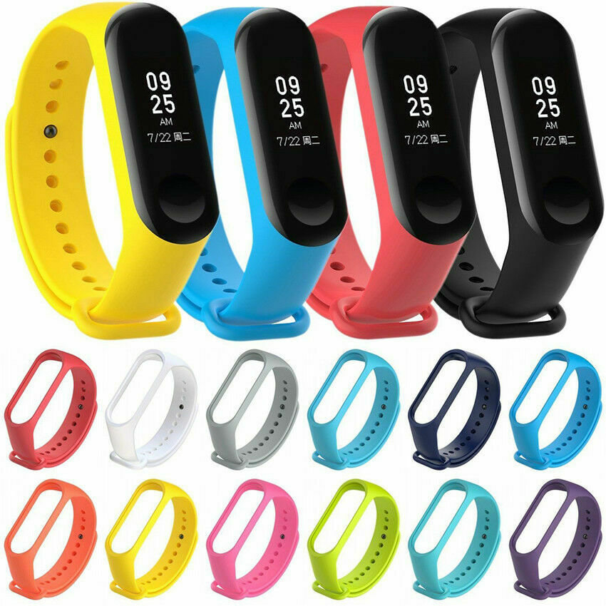 TPU Silicone Smart Band Replacement Colorful Bracelet Band Strap For Xiaomi Mi Band 3 Strap Mi Band4 M3 M4 Best Quality Strap