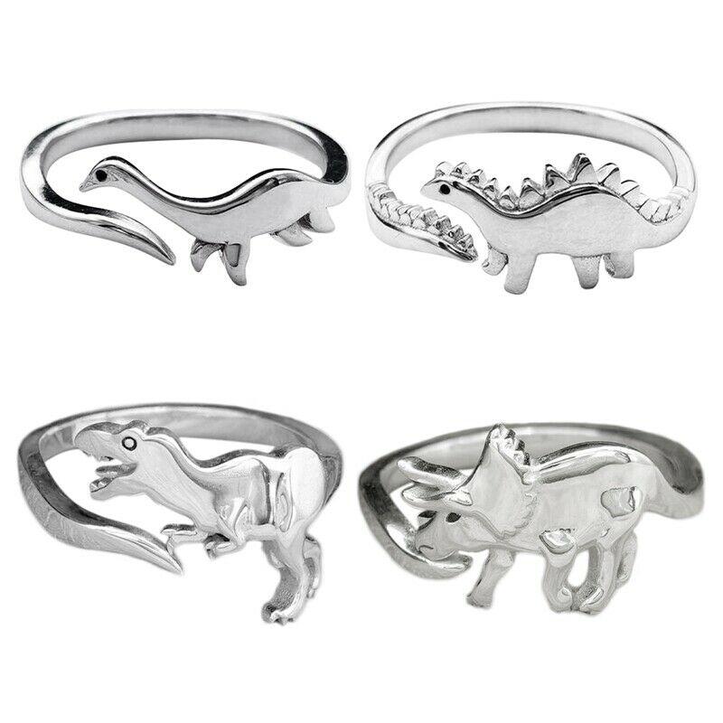 Кольца в виде динозавра, ювелирные изделия с длинным вырезом дракона Стегозавра, открытое регулируемое кольцо в виде Милого Животного, пода...