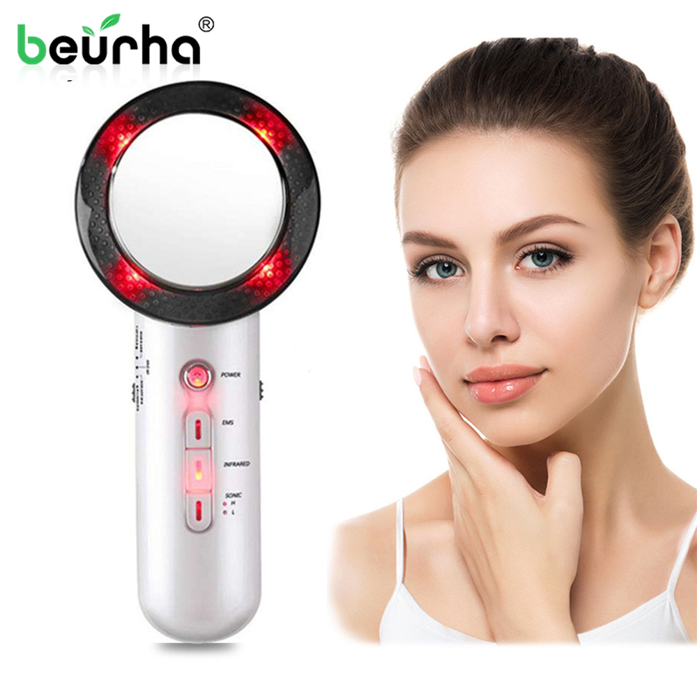 Multifunctional Face Massager Ultrasound Cavitation Machine EMS Body Loss Weight Anti Cellulite Infrared Therapy Skin Care Tools