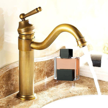 Antique Copper Bathroom Faucets Basin Faucets Brass Oil Rubbed Bronze Faucet Bathroom Hand Shower Hot Cold Mxier Water Tap
