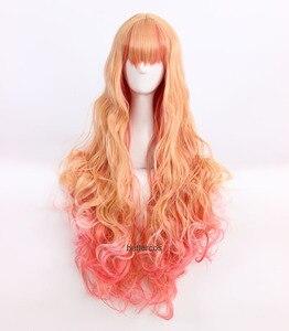 Japanese Anime Macross F Sheryl Nome cosplay wig Macross Frontier Sheryl Nome rolay play long hair wig costumes(China)