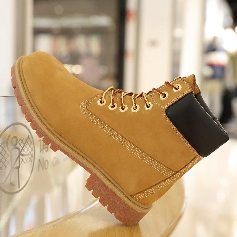 Роскошные мужские ботинки из натуральной кожи; мужские зимние ботинки; Зимние ботильоны на шнуровке; мужские водонепроницаемые ботинки из ... - 2
