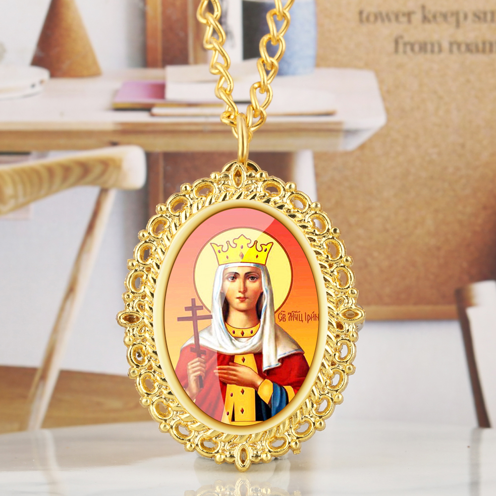 Delicate Madonna/Jesus Pattern Quartz Pocket Watch Luxury Gold Color Necklace Chain Pendant Clock New Arrival 2019 Dropshipping