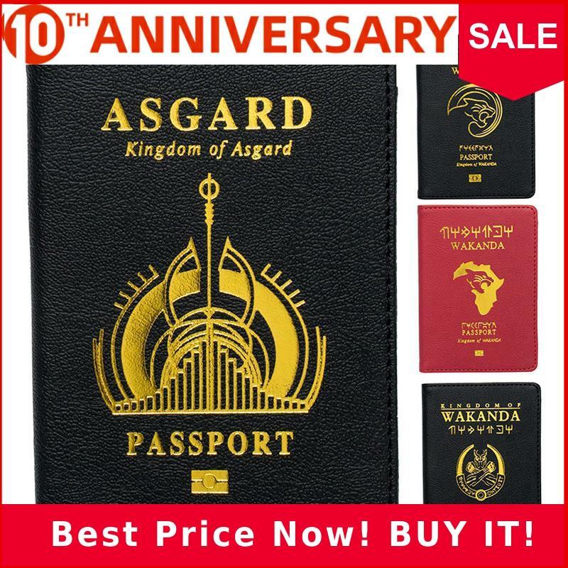 Zoukane Pu Marvel Avengers Passport Cover Travel Accessories Passport Case Black Panther Asgard Shield Passport Cover ZSPC04
