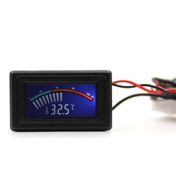 DC 5-25V Digital LCD Thermometer Temperature Meter Gauge Panel Mount C/F Water-Cooled Temperature Indicator 50 110c digital lcd pointer thermometer car water temperature meter gauge c f for computer case