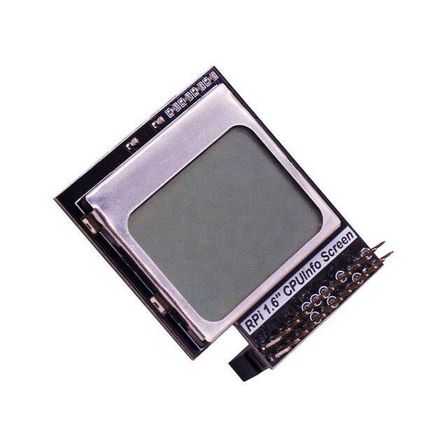Raspberry Pi 3 Modelo B, CPU información pantalla LCD de 1,6 pulgadas 84x48 con retroiluminación interruptor Compatible Pi2/1/Orange Pi