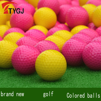 Genuine TTYGJ Premium Golf Rose Red/Yellow Single Layer Ball 80-90 Brand New Golf Color Exercise Ball Solid Multicolor Selection