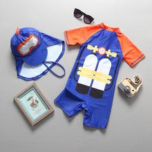 City Thresds Baby Boy strój do surfingu strój kąpielowy z krótkim rękawem strój kąpielowy dla dzieci ochrona UV ochrony przeciwsłonecznej surfingowy strój kąpielowy strój kąpielowy tanie tanio City Threads Pasuje prawda na wymiar weź swój normalny rozmiar Dziewczyny Stretch Spandex Drukuj ggxfs58 Kids Rash Guard Swimwear
