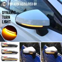Flow Rearview Dynamic Sequential Mirror Flowing LED Turn Signal Light For Audi A3 8V S3 RS3 2013 2020