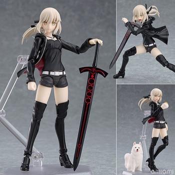 Anime Fate / Grand Order Figma 418 hezoba Saber Altoria action figure collectible model toys Brinquedos 13cm 1