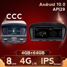 """8.8 """"Quad Core Android 10 voiture DVD pour BMW série 5 E60 E61 E63 E64 série 3 E90 E91 avec GPS Audio Radio iDrive volant"""