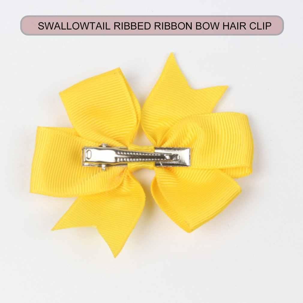 ילדים שיער קליפ בארה 'ב טאיל מצולעים סרט קשת שיער קליפ תינוק שיער אביזרי עבור בנות
