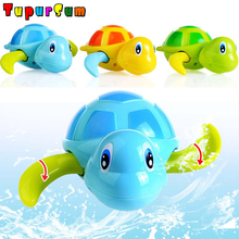 Funny Cute Cartoon Turtle Animal Tortoise Classic Baby Water Toy Infant Swim Wound-up Chain Clockwork Kid Beach Bath Toys