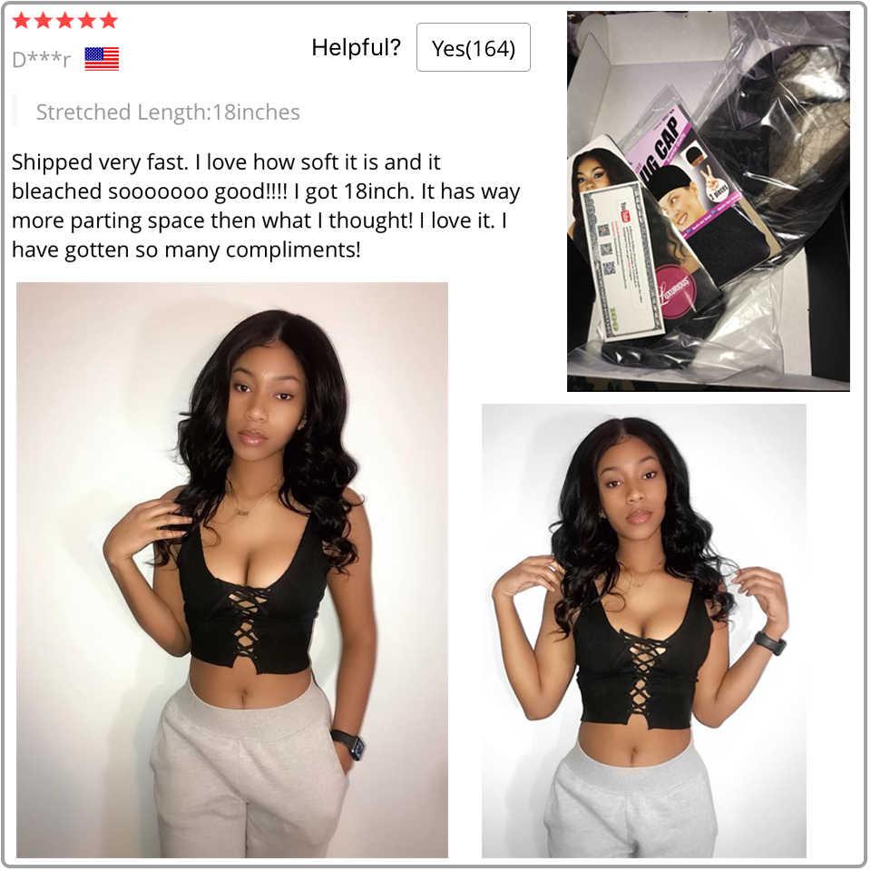150% koronki przodu włosów ludzkich peruk dla czarnych kobiet wstępnie oskubane linii włosów z dzieckiem włosy brazylijski Remy ludzki włos ciało koronkowa fala peruka Front